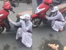 Cô gái gào khóc vật vã giữa đường vì mèo bị đâm chết, mọi người xông vào chửi... dở hơi
