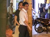 """Hoa hậu Thu Thảo xuất hiện """"tay trong tay"""" tình tứ cùng chồng sắp cưới trên phố sau khi báo hỷ"""