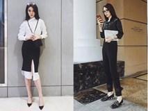 Cứ đen - trắng mà diện, street style của Kỳ Duyên vươn lên top sao mặc đẹp nhất tuần này