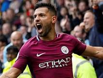 Aguero lập hat-trick, Man City đánh chiếm ngôi đầu
