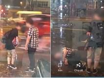 Cặp đôi dầm mưa trên phố Hà Nội gần 3 tiếng để...cãi nhau