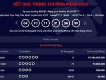 Kết quả Vietlott ngày 24.9: Giải Jackpot tiệm cận 100 tỷ đồng