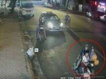Clip: Đôi nam nữ dẫn theo bé trai dàn cảnh trộm xe máy ngay trên phố