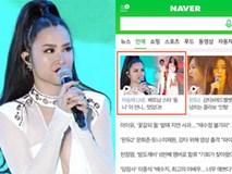 Chuyện hiếm có: Đông Nhi lên luôn trang chủ cổng thông tin lớn nhất Hàn Quốc