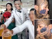 Xôn xao đám cưới của chú rể 9x xăm trổ kín mặt bên cạnh cô dâu trái ngược hoàn toàn