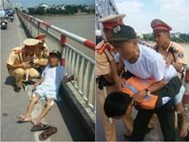 Chán sống, cụ ông 84 tuổi bắt taxi lên cầu Chương Dương định nhảy xuống sông Hồng tự tử