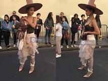 """Vừa """"đấu khẩu"""" chán chê với Tâm Tít xong, Maya đã mặc cực """"dị"""" xuất hiện tại Paris Fashion Week"""