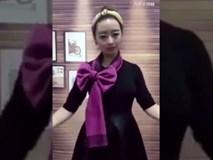Cách làm điệu với chiếc khăn vô cùng ấn tượng