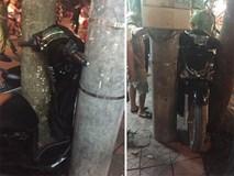 Hình ảnh chiếc xe máy trên đường khiến dân mạng phải đau đầu phân tích