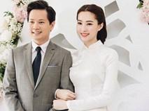 Hé lộ loạt ảnh Hoa hậu Thu Thảo đẹp tựa nữ thần, cười rạng rỡ bên ông xã Trung Tín trong ngày ăn hỏi