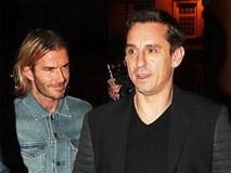 Beckham lịch lãm dự lễ khai trương hộp đêm của Gary Neville