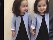 Bất ngờ với hai bé gái sinh đôi đẹp như thiên thần