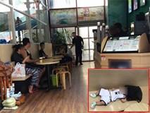 Bé trai được mẹ đưa vào cửa hàng uống nước bị nhân viên chụp trộm tung lên mạng để câu like