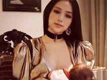 2 tuần sau sinh con, Huyền Baby đã tái xuất xinh đẹp, tự tin khoe ảnh trang điểm lộng lẫy cho con bú