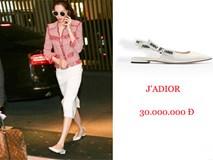 Hoa hậu Đặng Thu Thảo mang giày 30 triệu bước đi kiêu hãnh đến nơi tổ chức tiệc cưới