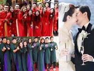 """Tập đoàn phù dâu – phù rể """"chất hơn nước cất"""" trong đám cưới sao Việt"""
