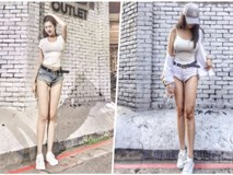 Hot girl sở hữu đôi chân dài miên man đến mức 'mất cân đối'