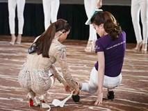 Mất hình ảnh vì Mai Ngô, Phạm Hương lại ghi điểm khi chỉnh giày cho thí sinh