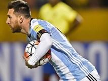 """""""Thánh"""" Messi lập hat-trick, Argentina hiên ngang đến Nga vào mùa hè năm sau"""