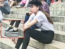 Hà Hồ diện giày bánh mì 'kiện tướng' 20cm, fan thảng thốt hỏi: 'Chị mang đôi này thì cao 2 mét ư?'