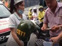 """Công an lên tiếng về clip CSTT xử phạt xe cấp cứu trên phố Hà Nội: """"Tổ công tác làm đúng luật nhưng hơi cứng nhắc"""""""