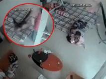 Xôn xao clip người chồng thẳng tay túm chân vợ lẳng xuống sàn nhà ngay trước mặt con nhỏ khiến nhiều người phẫn nộ