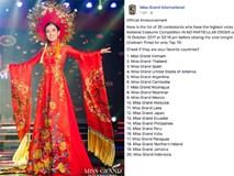 Trước giờ công bố kết quả, Huyền My lọt top 20 thí sinh có trang phục dân tộc được yêu thích nhất