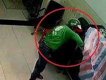 Thanh niên mặc áo, đội mũ Grab Bike phá khóa, trộm đồ lúc rạng sáng