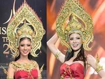Trang phục truyền thống bó sát khiến thí sinh Miss Grand Thái Lan 2 lần bị ngã trên sân khấu