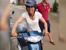 Cười ngất với màn dạy chị gái đi xe máy
