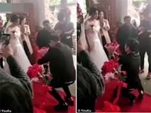 Clip: Quỳ gối cầu hôn, chú rể nhận lại thái độ lạnh lùng của cô dâu ngay tại lễ cưới