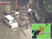 Cảnh tượng khủng khiếp ở Nhật khi siêu bão Lan đổ bộ