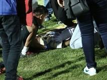 Cầu thủ U19 Indonesia lo ngại gãy xương cổ sau vụ loạn đả