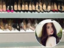 Con gái sẽ phải thích mê khi ngắm 6 tủ toàn giày hiệu của Ngọc Trinh cho mà xem!
