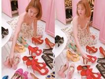 Mỗi lần Ngọc Trinh dọn dẹp tủ giày là chị em lại choáng váng vì hàng hiệu chất như núi