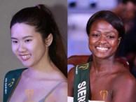 'Hoảng hốt' khi ngắm nhan sắc thật sự không Photoshop của thí sinh Hoa hậu Trái đất 2017