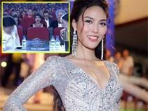 Lan Khuê ngã dúi dụi vì lọt ghế tại chung kết Hoa hậu Đại dương 2017
