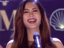 Ứng xử hồn nhiên hơn Ngọc Trinh, cô gái này 'sáng' nhất chung kết Hoa hậu Đại dương 2017