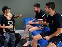 Neymar tranh thủ trở lại Barca thăm lại Messi và Suarez