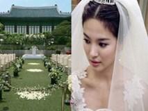 Ngất ngây hình ảnh Song Hye Kyo mặc váy cưới trước hôn lễ