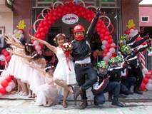 """Trang phục cực chất và """"dàn xế khủng"""" rước dâu trong đám cưới của cặp đôi Sài Thành"""