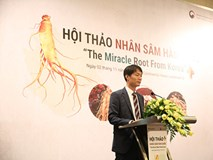 Việt Nam-thị trường lớn thứ 5 nhập khẩu nhân sâm Hàn Quốc