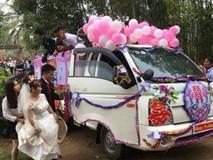 Xe tải thành xe hoa rước dâu ở Nghệ An: Người thích thú, người chê bai