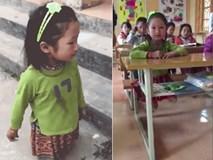 Cảm phục cô bé Sọ Dừa xinh xắn, cụt hai chân vẫn tung tăng đến lớp