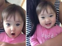 """Màn rửa mũi """"gây sốt"""" của em bé vô cùng đáng yêu, xinh xắn"""