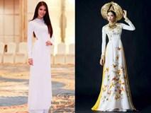 Những bộ áo dài giúp các đại diện Việt 'làm nên chuyện' ở đấu trường nhan sắc quốc tế