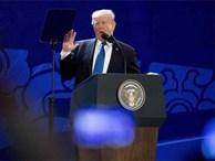 Phát hiện bí mật khi Tổng thống Mỹ Trump phát biểu ở APEC Đà Nẵng