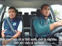 Ông bố dạy con trai lái xe khiến người xem không nhịn được cười