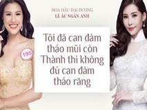 """Ngân Anh: """"Tôi can đảm tháo sụn mũi còn Nguyễn Thị Thành không tháo răng nên không thể so sánh được"""""""