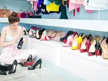 """Hé lộ tủ giày khủng trong biệt thự triệu đô của """"Nữ hoàng nội y"""" Ngọc Trinh"""